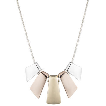 Nine West 16-inch Frontal Necklace - Tri-Tone