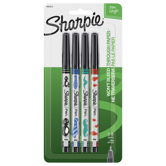 Sharpie Wrap Pens - Fine Point - 4 pack