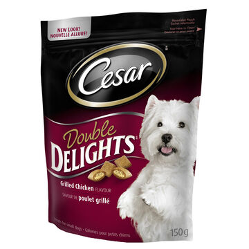 Cesar Double Delights Grilled Chicken Flavour Treats - 150g