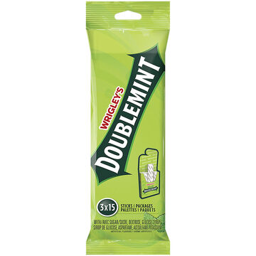 Wrigley Doublemint Gum - 3 pack