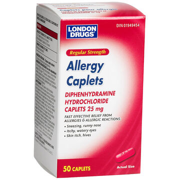 London Drugs Allergy Aid - 25mg - 50's