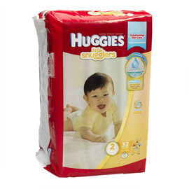 Huggies Little Snugglers Disposable Diaper - Size 2 - 32's