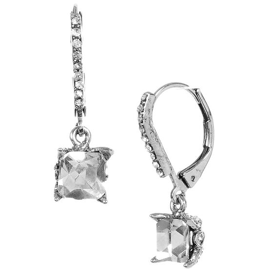 Betsey Johnson Euro Drop Earrings - Crystal