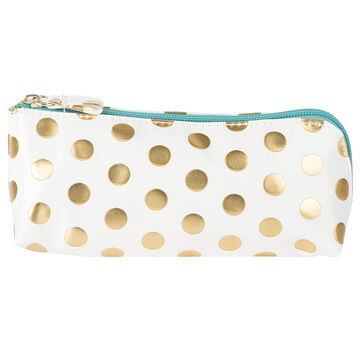Modella Pencil Case White with Gold Foil Dots - A000711LDC