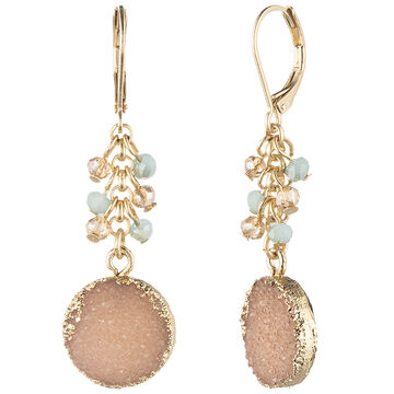 Lonna & Lilly Shaky Drusy Earrings - Multi