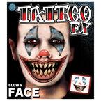 Halloween Tattoo FX Clown Face
