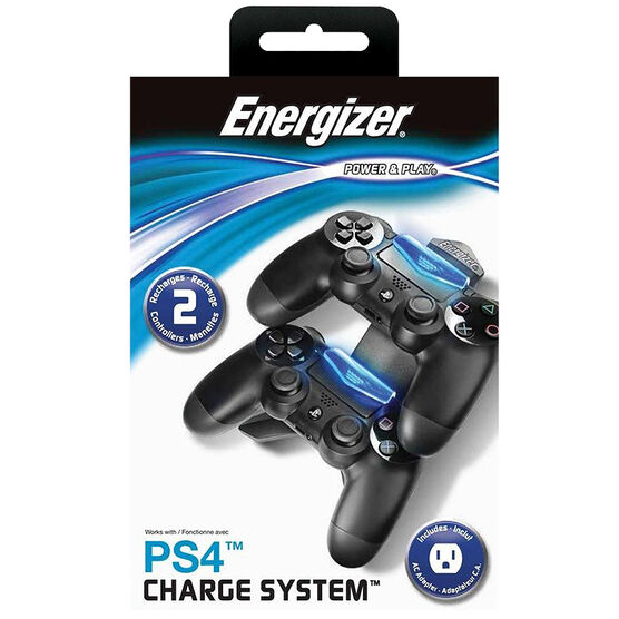 PlayStation 4 Energizer 2X Charge System - Black - PL0019