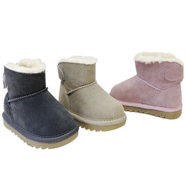 Outbaks Suede Sherpa Booties - Girls - Assorted