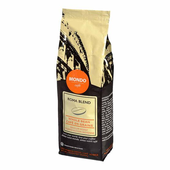 Mondo Cafe Roma Blend Whole Bean Coffee - Medium Roast - 454g