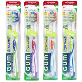 G.U.M Tooth Brush Supreme Max with Cheek and Tongue Cleaner - Soft
