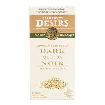 Flagrants Desirs - 70% Dark Chocolate Quinoa  - 100g