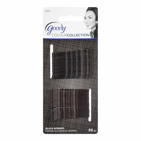 Goody Colour Collection Bobby Pins - Black - 50 pack