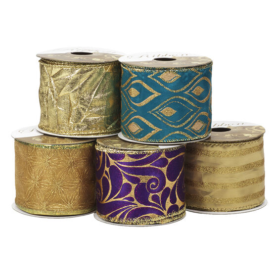 Winter Wishes Elegance Ribbon - 2.5 inch - Assorted