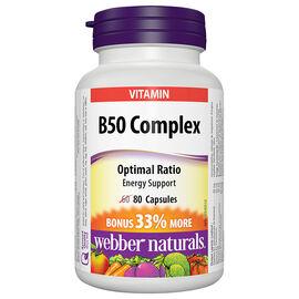 Webber Naturals Vitamin B50 Complex 50mg - 60's