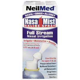 NeilMed NasaMist Saline Spray - Full Stream - 177ml