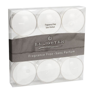 Enlighten Tealights - Unscented - 9 pack