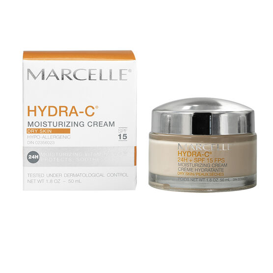 Marcelle Hydra-C 24H Moisturizing Cream for Dry Skin - SPF 15 - 50ml