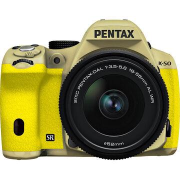 Pentax K-50 w/18-55 WR Kit - Gold Body