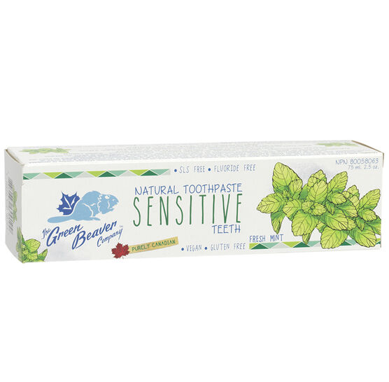 Green Beaver Natural Toothpaste Sensitive - Fresh Mint - 75ml