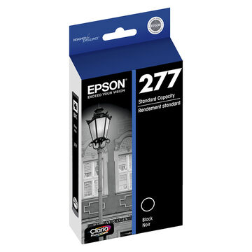 Epson 277 Claria Photo Hi-Definition Ink T277 Standard-Capacity Ink Cartridge - Black - T277120-S