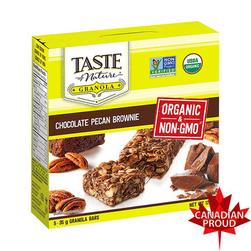 Taste of Nature Granola Bars - Chocolate Pecan Brownie - 5 X 35g