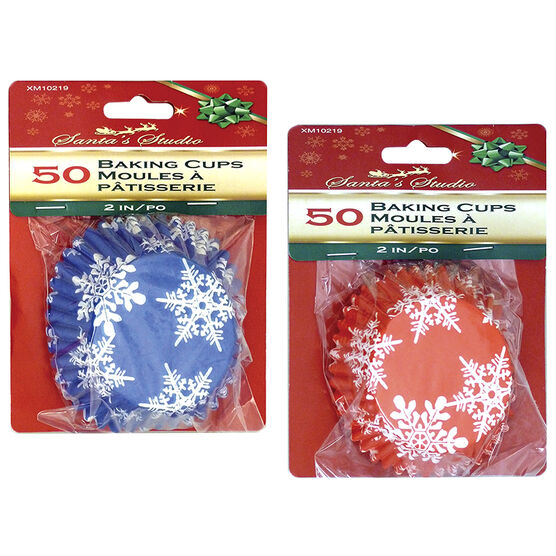 Christmas Foil Baking Cups - 2 inch - 50 pieces - Assorted