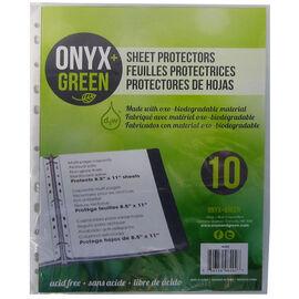 Onyx Green Sheet Protectors - 10 sheets