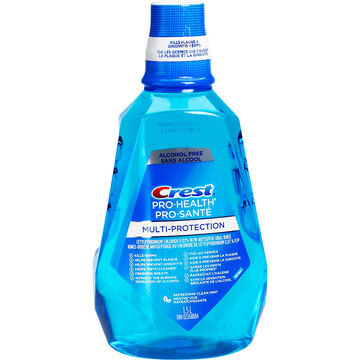 Crest Pro-Health Oral Rinse - Alcohol Free - Refreshing Clean Mint - 1.5L