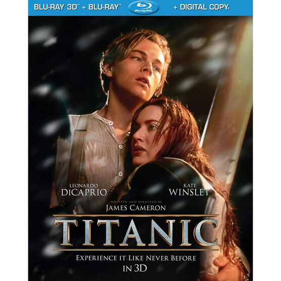 Titanic 3D - 3D Blu-ray + Blu-ray + Digital Copy