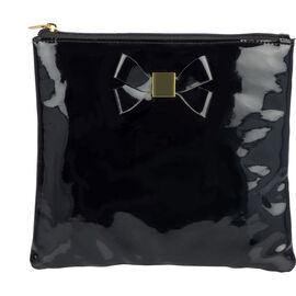 Modella Organiser with Bow Flat Pouch - Black - A004706LDC