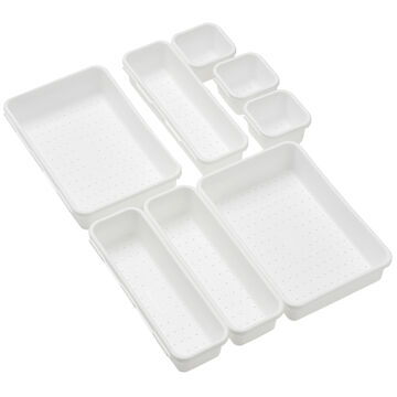 Madesmart Soft Bin Pack - White - 8 piece
