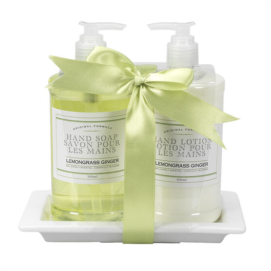 The Kitchen Kit Hand Care Set - Lemon Grass Ginger - 3 piece