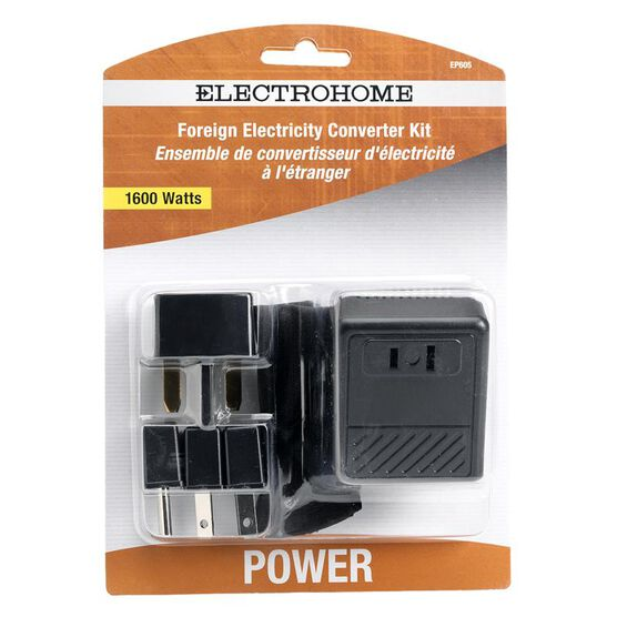 Electrohome EP605 - Power converter with Plug Adapters