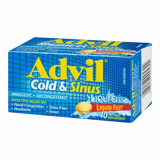 Advil Advil Cold & Sinus Liqui-Gels - 40's