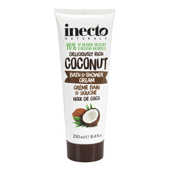 Inecto Naturals Deliciously Rich Coconut Bath & Shower Cream - 250ml