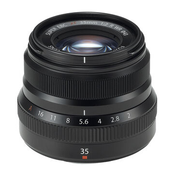 Fuji XF 35mm F2.0 R WR Lens - Black - 600015904