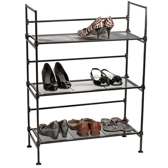 MLM Home 3 Tier Shoe Rack with Mesh Shelves