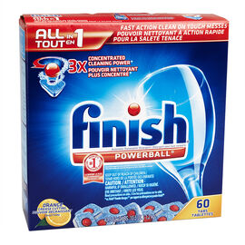 Finish Powerball All-in-One Dishwasher Detergent - Orange - 60 tablets