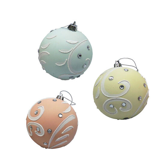 Sequins Ball Ornament - CE4103-10S1 - Assorted
