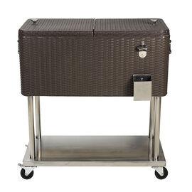London Drugs Plastic Rattan Cooler Cart - 80qt - DA72423
