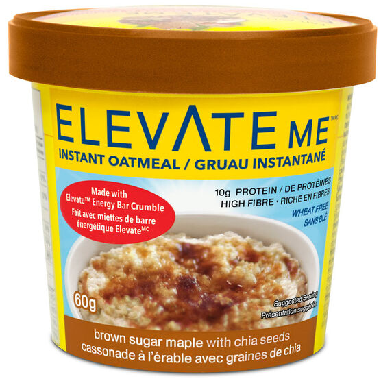 Elevate Me Oatmeal - Brown Sugar Maple with Chia Seeds - 60g