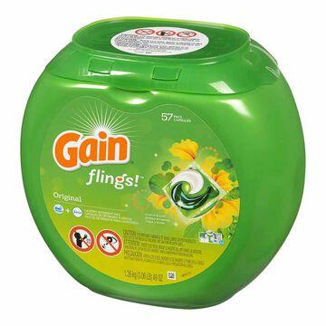 Gain Flings 3-in-1 Detergent - Original Scent - 57 pacs