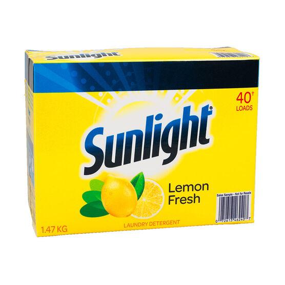 Sunlight Powder Laundry Detergent - Lemon Fresh - 1.47kg/40 loads
