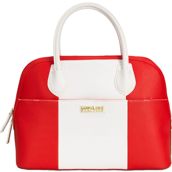 Kenneth Cole Astro Dome Satchel - Persimmon/White