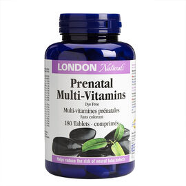 London Drugs Naturals Prenatal Mutlivitamins - Dye Free - 180's