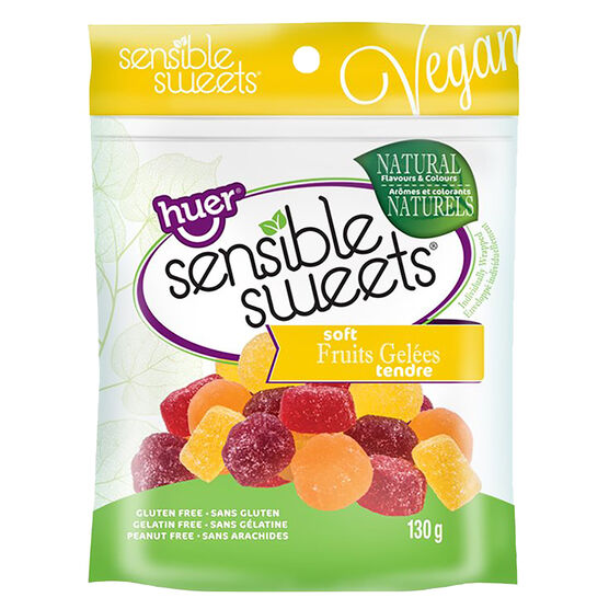 Huer Sensible Sweets Soft Fruit Gelees - 130g