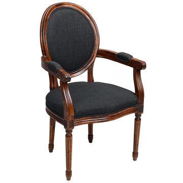 London Drugs Louis 16th Linen Arm Chair - 57 x 66 x 100cm