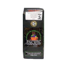 Pacific Coffee Roasters Whole Bean Coffee - Fairtrade Certified Organic Italian Roast - 340g