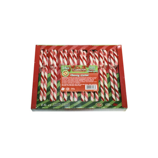 Clarington Cherry Candy Canes - 200g
