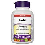 Webber Biotin - 5000mcg - 60's